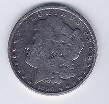 1890 $1 Morgan Silver Dollar