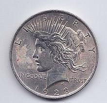 1923 $1 Peace Silver Dollar