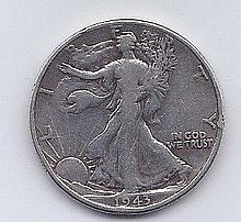 1943 50 Cent Silver Walking Liberty Half