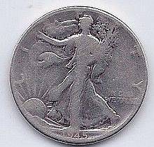 1945 50 Cent Silver Walking Liberty Half