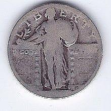 Unknown Date 25 Cent Silver Liberty Quarter