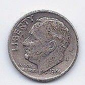 1946 10 Cent Silver Roosevelt Dime