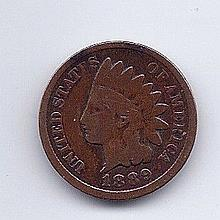 1889 1 Cent Indian Head Penny