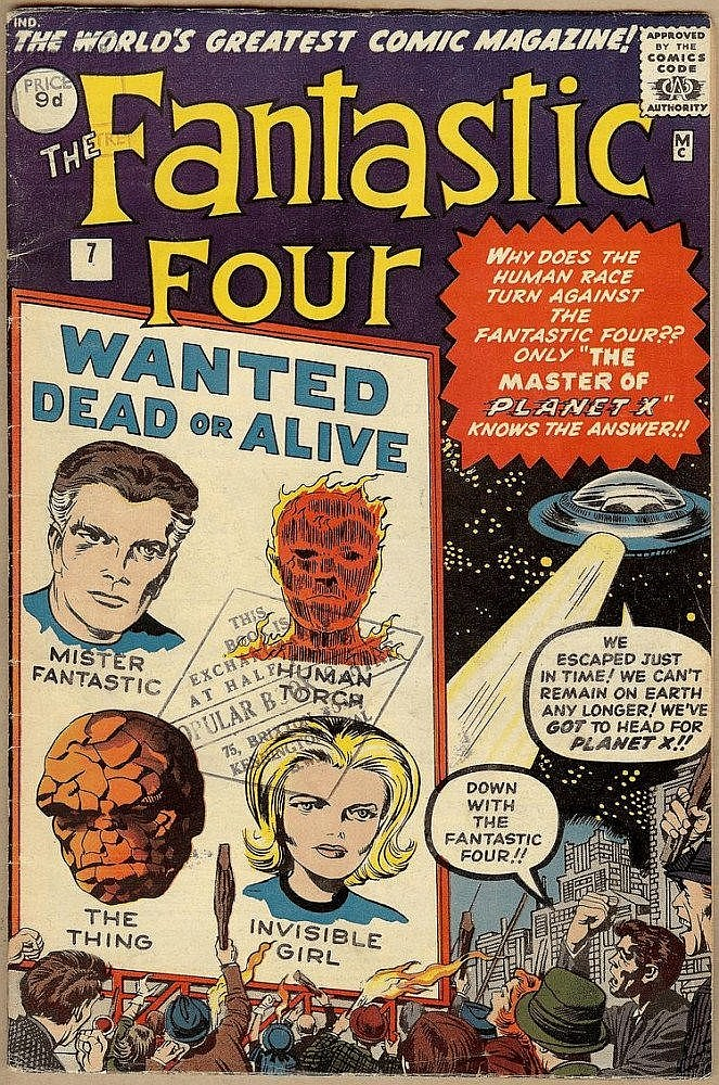 Fantastic Four, Marvel, October 1962, nr. 7