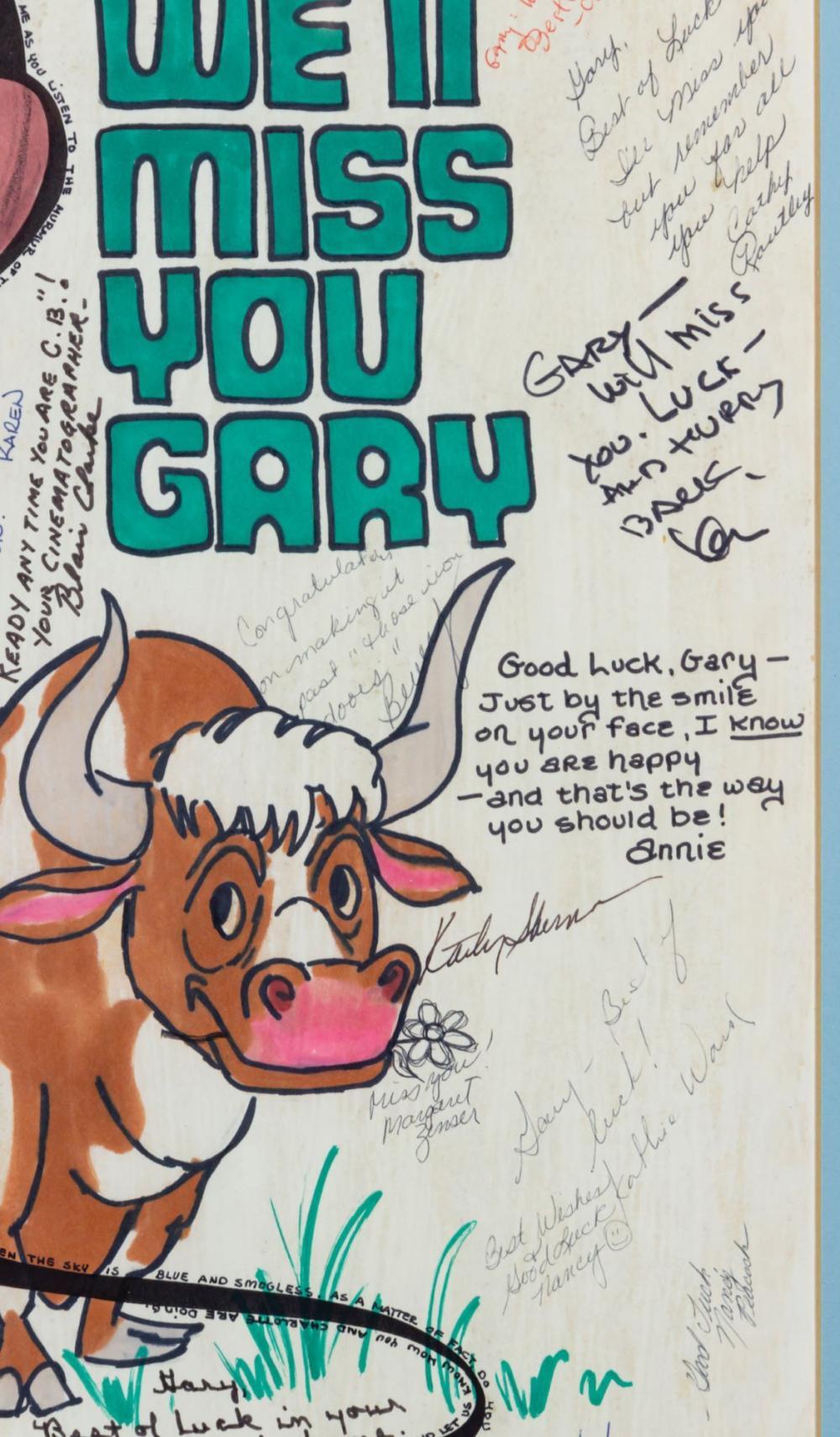 disney university multisigned goodbye card