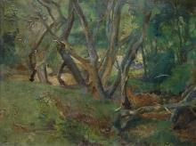 Henri Frederic Boot (1877-1963) - doek, 30 x 40, Bosgezicht, gesigneerd r.b.