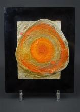 Luc Janetzky (1938-2019) reliëf van gemengde techniek op paneel en kunststof, 23 x 19, Abstract