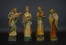 Anton Fortuin (1880-1967) - 4keramieken vormstukken met vooorstelling van 'De vier seizoenen', g