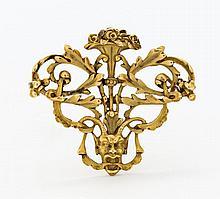GOLDBROSCHE. Frankreich, um 1900.750/-