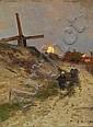 Kampf, Eugen  1861 Aachen - 1933 Düsseldorf  Mondaufgang in den Dünen, Eugen Kampf, Click for value