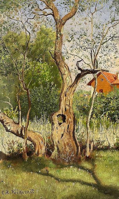 Vockeradt, Caspar Hermann  1852 Lippstadt  Baumstudie