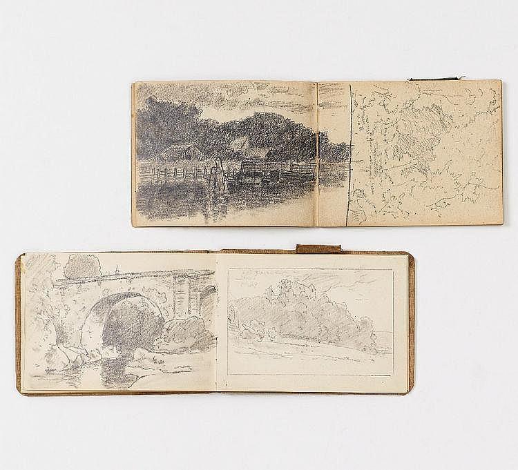 Morgenstern, Carl Ernst  1847 München - 1928 Wolfshau im Riesengebirge  Zwei Skizzenbücher