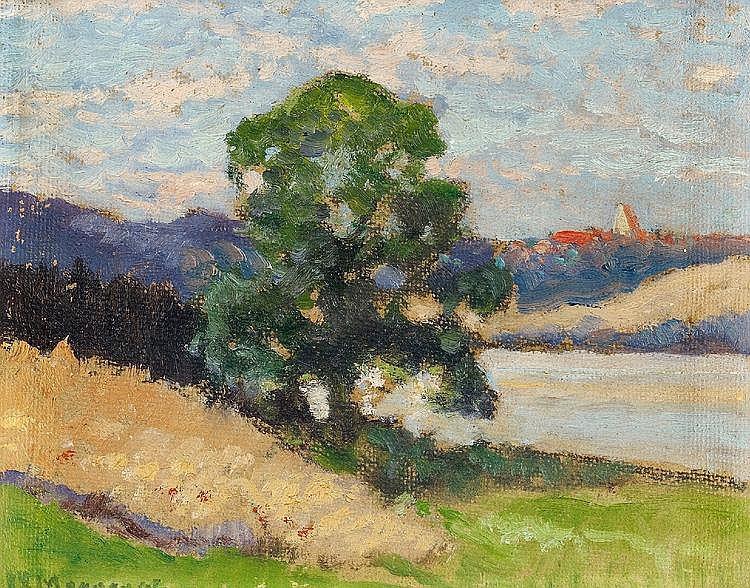 Morgenstern, Carl Ernst  1847 München - 1928 Wolfshau im Riesengebirge  Landschaftsstudie