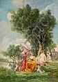 Wolfrom, Friedrich Ernst  1857 Magdeburg  Jungfrauen im Park, Friedrich Ernst Wolfrom, Click for value