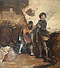Trumpeteer in the wine cellar., G. Dickmeis, Click for value