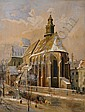 Winter in the city., Otto Ferdinand Leiber, Click for value