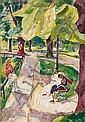 MÜhlen, Hermann1886 DÜsseldorf - 1964Im Park., Hermann Mühlen, Click for value