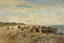 MÜHLIG, HUGO - 1854 Dresden - 1929 Düsseldorf  At the Beach.