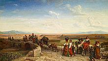 MOHN, VICTOR PAUL - 1842 Meißen - 1911 Berlin - Morning in the Roman Campagna.