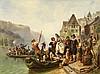 KINDLER, ALBERT - 1833 Allensbach - 1876 Meran - Wedding Procession at the Rhine., Albert Kindler, Click for value