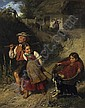 Playing farmers' children on their way into the fields., Adolf Eberle, Click for value