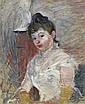 Jeune fille en blanc., Berthe Morisot, Click for value