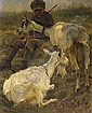 Small goatherd with two animals., Paul Junghanns, Click for value