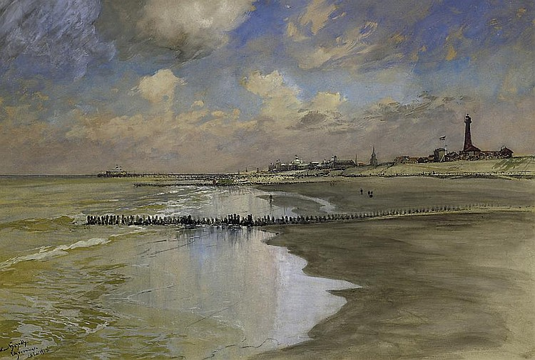 On the beach by Scheveningen.