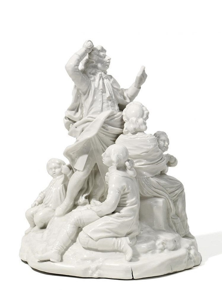 GROUP OF CAPELLMEISTER Frankenthal, 1785, model by