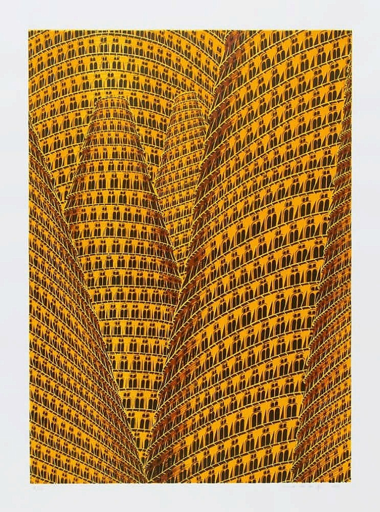 BEY, ANNETTE VON DER 1965 Remscheid Turmbau zu Babel I, II und II