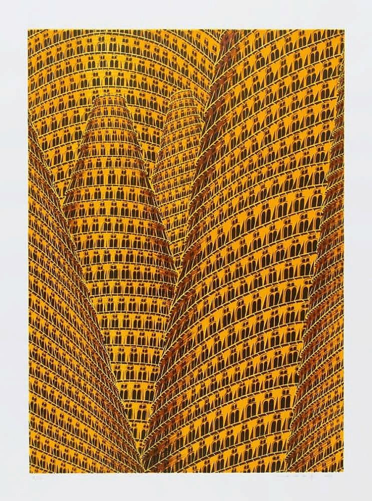 BEY, ANNETTE VON DER 1965 Remscheid Turmbau zu Babel I, II (2 Blä