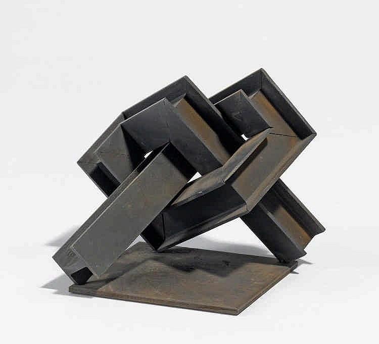 FIEBIG, EBERHARD Ohne Titel (Skulptur 1). 10 x 11,5 x 12cm.