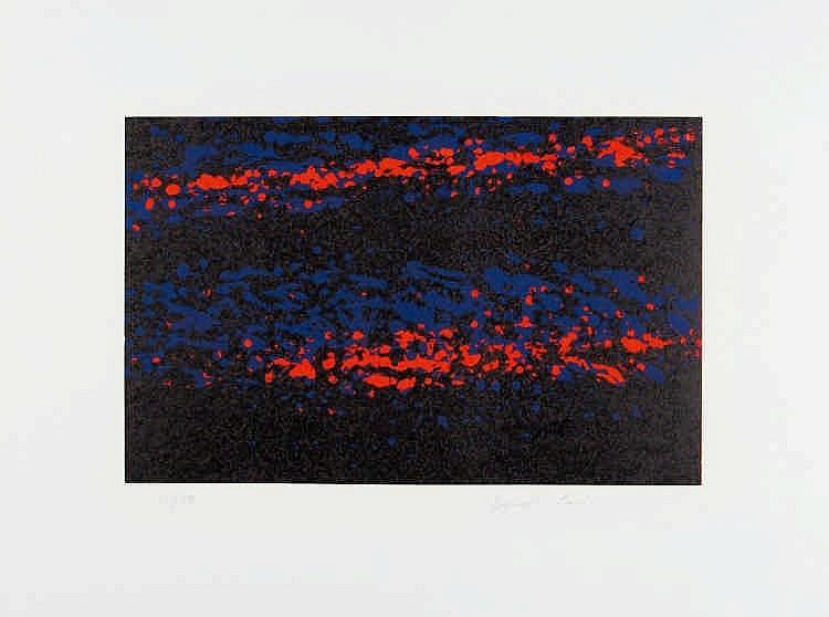 LOKAI, BERNHARD Ohne Titel (2 Blätter aus einer Serie mit 3 Arbeiten:
