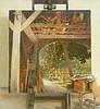 LODENKÄMPER, KAROLUS Blick aus Scheune. Acryl auf Leinwand. 140 x 130c, Karolus Lodenkämper, Click for value
