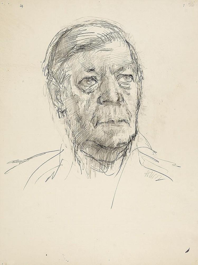 Heisig, Bernhard 1925 Wroclaw  Helmut Schmidt.