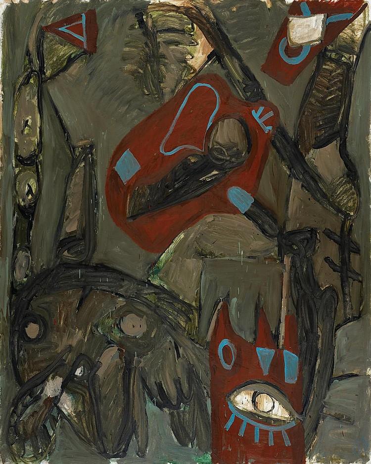 Lüpertz, Markus 1941 Liberec (Bohemia)  Hexenkind.