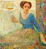 MAY, HEINZ Düsseldorf 1878 - 1954 Dame mit Goldfischglas. Öl auf Leinwand. 86,5 x 70cm. Signiert unten links: Heinz May. Rahmen., Heinz May, Click for value