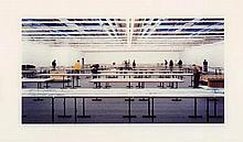 GURSKY, ANDREAS 1955 Leipzig - lives and works in Düsseldorf Centre Pompidou.1995. C-Print on Kodak-Professional paper. Acrylic glass. 26 x 49,8cm (54 x 70cm). Signed, dated and numbered in pencil verso: A. Gursky 10/'95 XXV/XXV, as well as edition