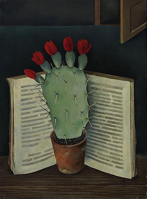 Boers, Willy Amsterdam 1905 - 1975  Blooming cactus.