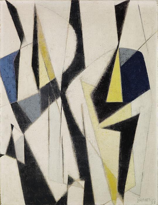 Siepmann, Heinrich 1904 Mülheim/Ruhr - 2002  Komposition (zueinander bewegend).
