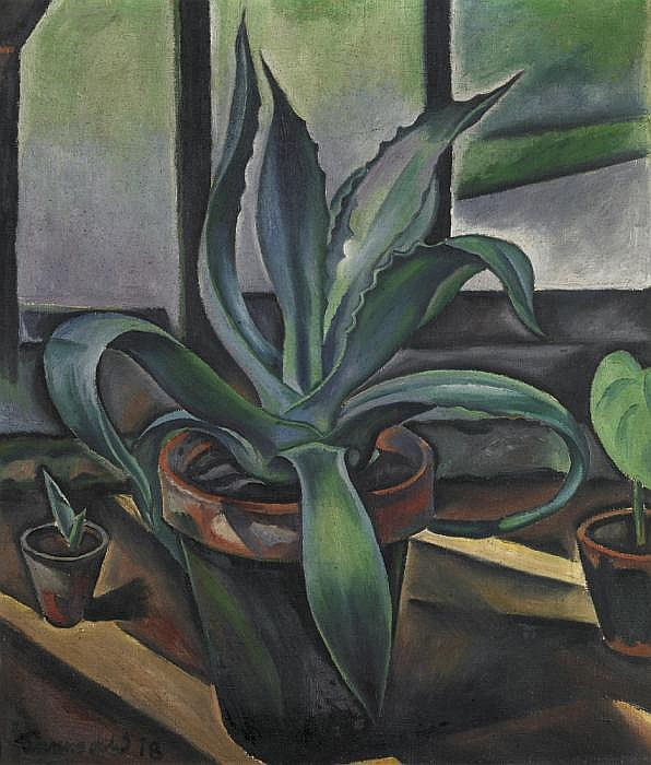 Seewald, Richard 1889 Arnswalde/Neumark - 1976 Munich  Still life (cactus at window).