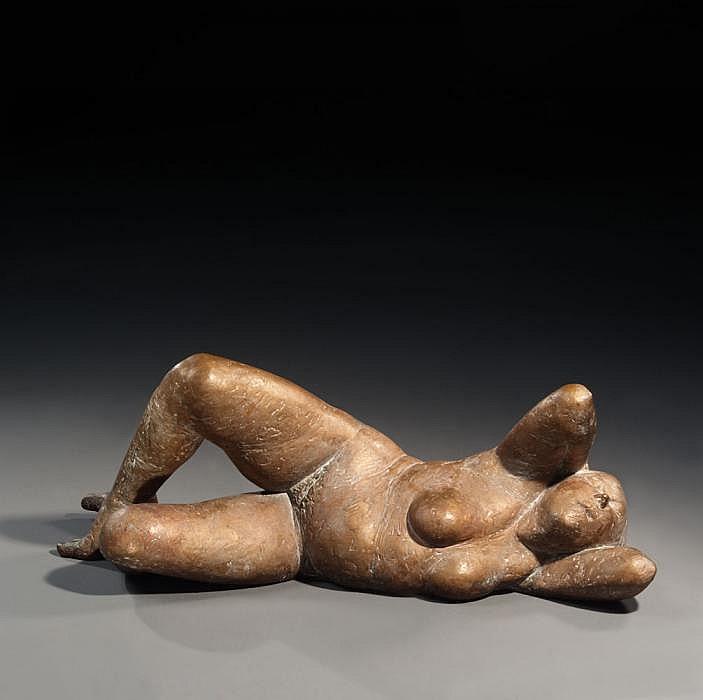 Otto, Waldemar 1929 Petrikau (Poland)  Reclining nude.