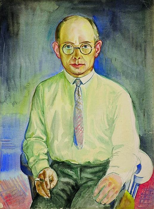Erbach, Alois Wiesbaden 1888 - 1972  Selfportrait.