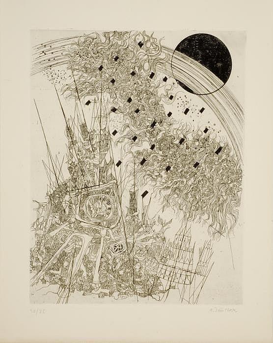 Finsterer, Alfred 1908 Nürnberg - 1996 Stuttgart From the apocalypse of John. 1971
