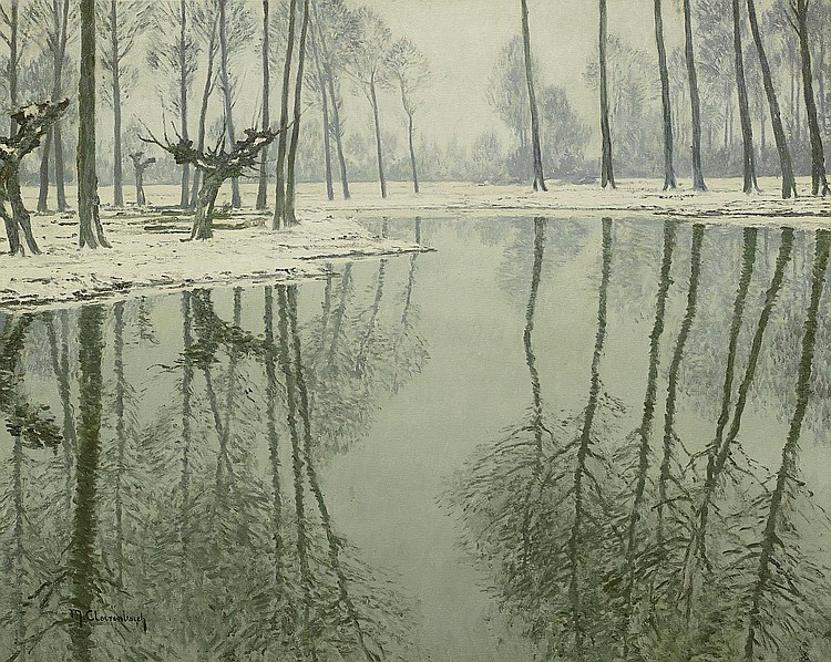 Clarenbach, Max1880 Neuss - 1952 Wittlaer/ Düsseldorf Winter on the Erft.
