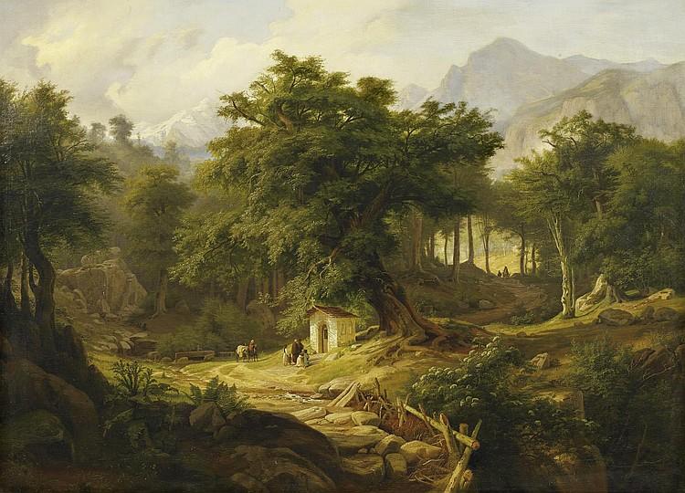 Busse, Georg Heinrich1810 - 1868 Hanover Romantic landscape.