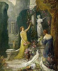 Senard, Charles1876 - 1934 Flower festival.