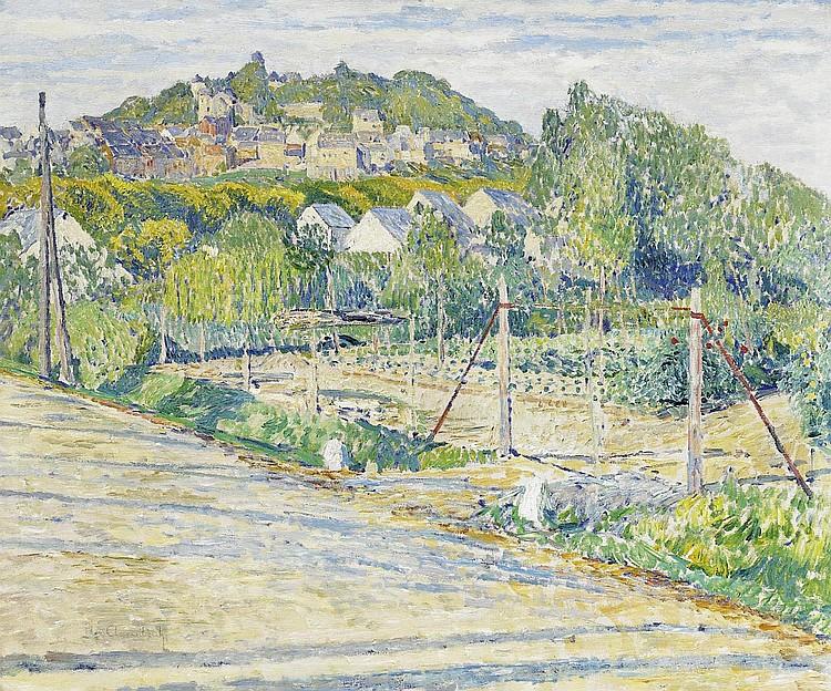 Clarenbach, Max1880 Neuss - 1952 Wittlaer/ Düsseldorf A summer day in Montabaur (?).