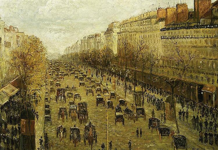 Bertrand, Paulin AndréToulon 1852 - 1940 Paris, Boulevard Montmartre.