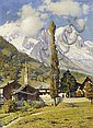 Maggi, Caesare1881 Rome - 1961 Turin Swiss Matterhorn from the side view., Cesare Maggi, Click for value